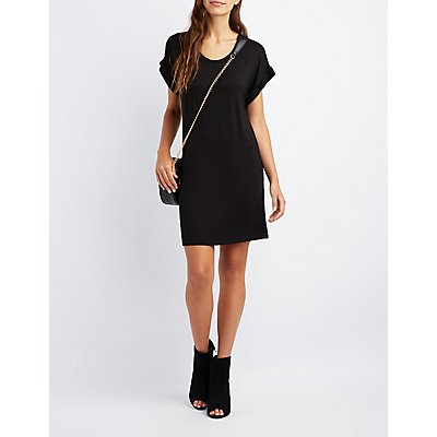 Scoop Neck T-Shirt Dress