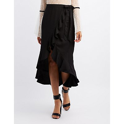 Ruffle Maxi Wrap Skirt