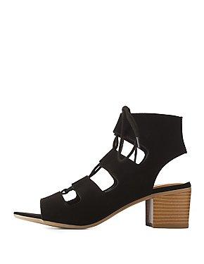 Lace-Up Slingback Sandals