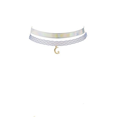 Holographic Choker Necklaces - 2 Pack