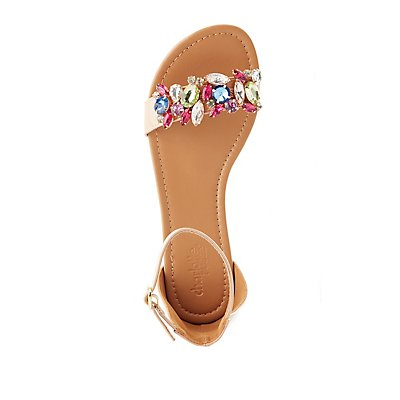 Embellished Two-Piece Sandals