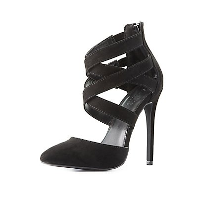 Strappy D'Orsay Pumps
