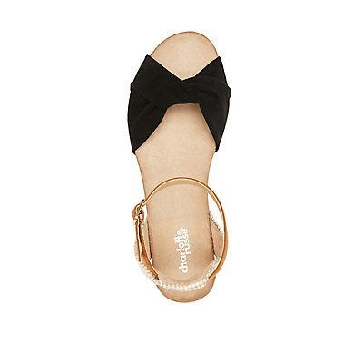 Combo Espadrille Wedge Sandals