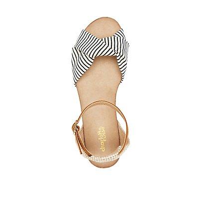 Combo Espadrille Wedge Sandals
