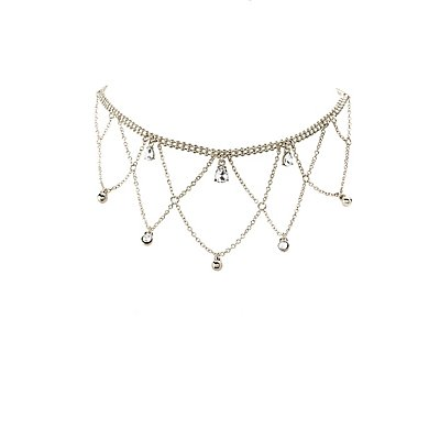 Rhinestone Chandelier Choker Necklace