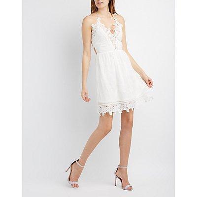 Little White Dress: Chiffon, Cut-Out & Lace | Charlotte Russe