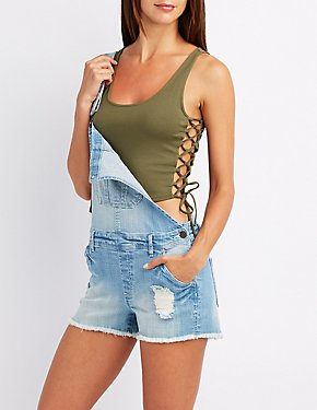 Lace-Up Sides Crop Top