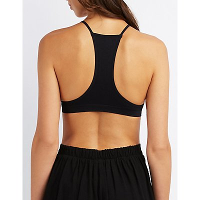 Lattice-Front Racerback Bralette