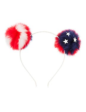 Americana Pom Pom Headband