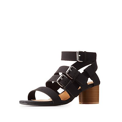 Buckled Chunky Heel Sandals