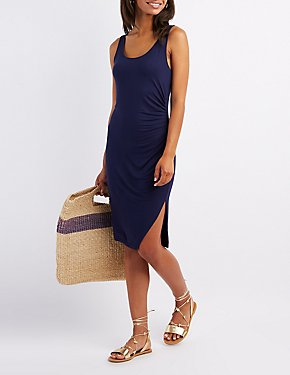 Ruched Bodycon Tank Dress