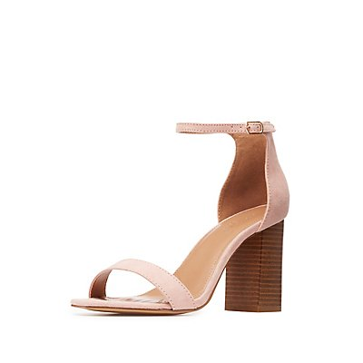 Two-Piece Chunky Heel Sandals