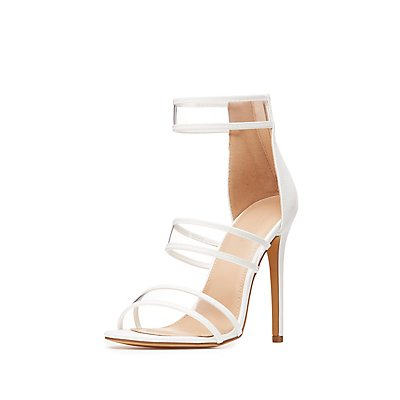 Clear Three-Piece Dress Sandals