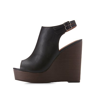 Slingback Platform Wedge Sandals