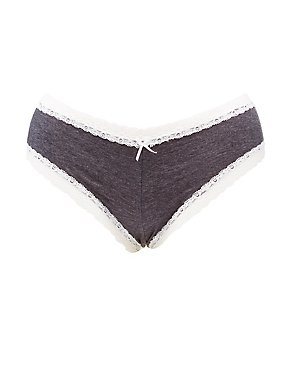 Plus Size Lace-Up Back Hipster Panties