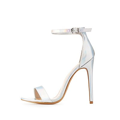 Holographic Two-Piece Sandals
