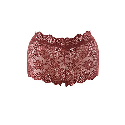 Plus Size Floral Lace Cheeky Panties