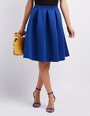 Midi Skirts: Full, Floral & Pleated | Charlotte Russe