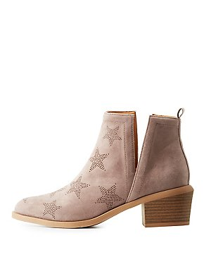 Perforated Star Slit Booties