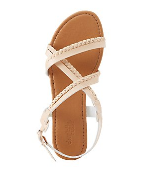 Braided Strappy Slingback Sandals