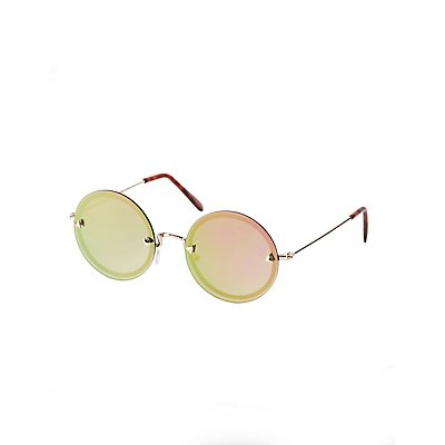 Rimless Round Sunglasses