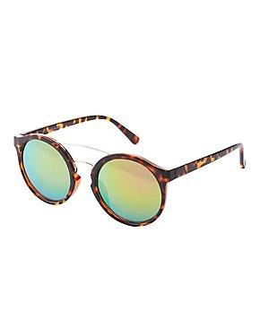 Reflective Brow Bar Sunglasses