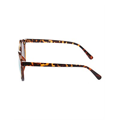 Reflective Brow Bar Sunglasses