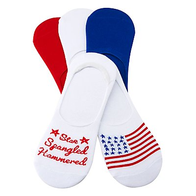Assorted Americana Shoe Liners - 5 Pack