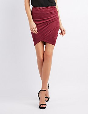 Pencil Skirts: Asymmetrical, Draped & Knot | Charlotte Russe