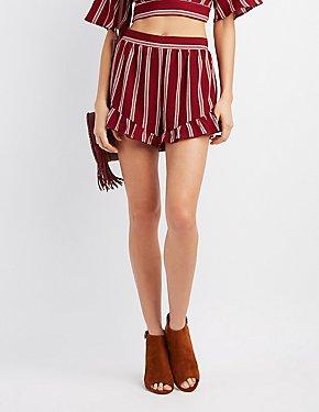 Striped Ruffle Shorts