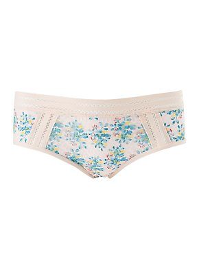 Floral Lace & Mesh Cheeky Panties
