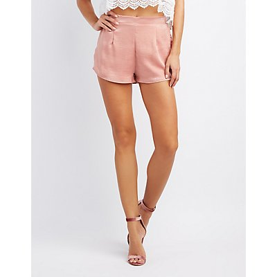 Satin Hi-Rise Shorts
