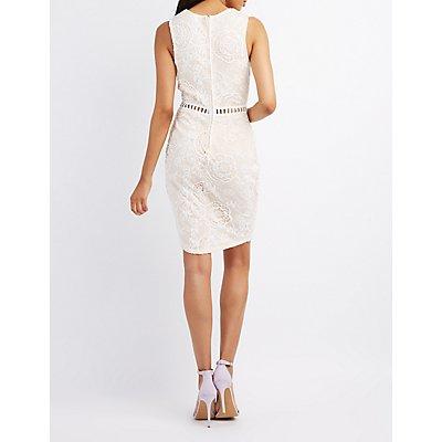 Crochet Lace Bodycon Dress