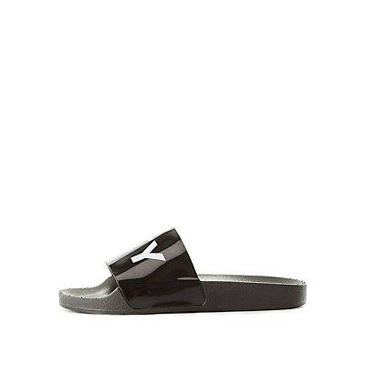 Qupid Low Key Slide Sandals