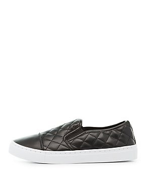 Qupid Quilted Slip-On Sneakers
