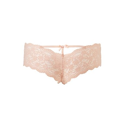 Caged-Back Lace Cheeky Panties
