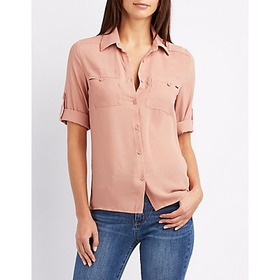 Collared Button-Up Shirt
