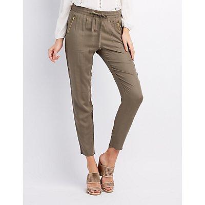Zipper Pocket Jogger Pants