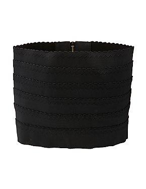 Plus Size Scalloped Stretch Waist Belt