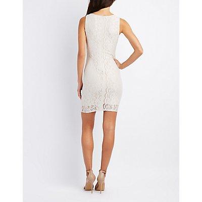 Strappy Lace Bodycon Dress