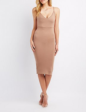 Knotted Backless Bodycon Dress