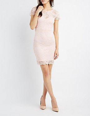 Floral Lace Bodycon Dress