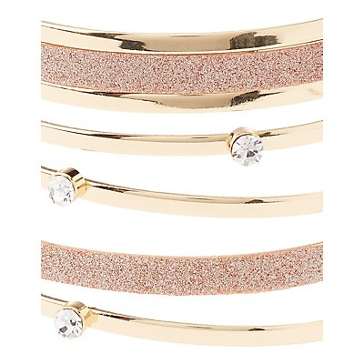 Plus Size Embellished Caged Cuff Bracelet