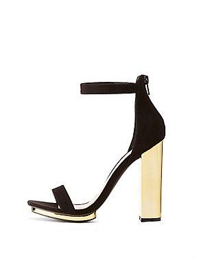 Two-Piece Block Heel Sandals