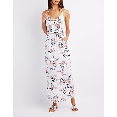 Floral Caged Maxi Dress