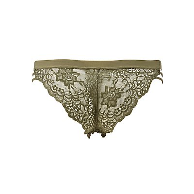 Caged Scalloped Lace Cheeky Panties