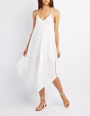 Handkerchief Hem Maxi Dress