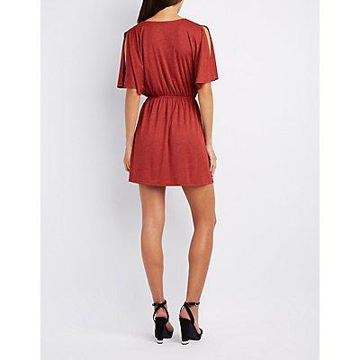 Split Sleeve Skater Dress