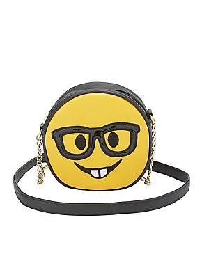 Nerdy Face Crossbody Bag