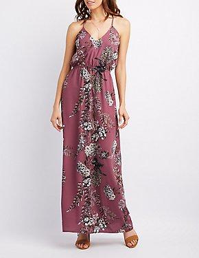 Floral Crisscross Maxi Dress
